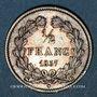 Coins Louis-Philippe (1830-1848). 1/2 franc 1837B. Rouen