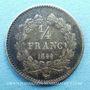 Coins Louis Philippe (1830-1848). 1/4 franc 1844A