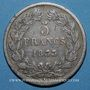 Coins Louis Philippe (1830-1848). 5 francs 1833BB. Strasbourg