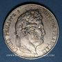 Coins Louis Philippe (1830-1848). 5 francs 1844W. Lille