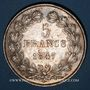 Coins Louis Philippe (1830-1848). 5 francs 1847A