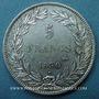 Coins Louis Philippe (1830-1848). 5 francs sans le I, tranche en creux 1830B. Rouen