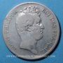 Coins Louis Philippe (1830-1848). 5 francs sans le I, tranche en creux 1830W. Lille