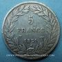 Coins Louis Philippe (1830-1848). 5 francs, tranche en creux, 1830T. Nantes