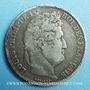 Coins Louis Philippe (1830-1848). 5 francs, tranche en creux, 1831D. Lyon
