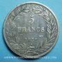 Coins Louis Philippe (1830-1848). 5 francs, tranche en creux, 1831T. Nantes
