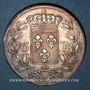 Coins Louis XVIII (1815-1824). 5 francs buste nu 1821W. Lille