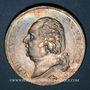 Coins Louis XVIII (1815-1824). 5 francs buste nu 1823D. Lyon