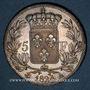 Coins Louis XVIII (1815-1824). 5 francs buste nu 1824A