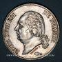 Coins Louis XVIII (1815-1824). 5 francs buste nu 1824MA. Marseille