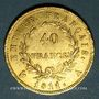 Coins 1er empire (1804-1814). 40 francs tête laurée, EMPIRE, 1811A. 900 /1000. 12,90 gr