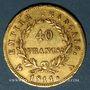 Coins 1er empire (1804-1814). 40 francs tête laurée, EMPIRE, 1811A. Tr. EU PROTEGE... 900 /1000. 12,90 gr