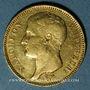 Coins 1er empire (1804-1814). 40 francs tête laurée, REPUBLIQUE, 1807A. 900 /1000. 12,90 gr