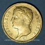 Coins 1er empire (1804-1814). 40 francs tête laurée, REPUBLIQUE, 1808 M. Toulouse. (PTL 900‰. 12,90 g)