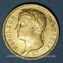 Coins 1er empire (1804-1814). 40 francs tête laurée, REPUBLIQUE, 1808M. Toulouse. 900 /1000. 12,90 gr