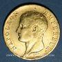 Coins 1er empire (1804-1814). 40 francs tête nue an 14A. 900 /1000. 12,90 gr