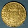 Coins 1ère restauration (1814-1815). 20 francs buste habillé 1814A. 900 /1000. 6,45 g. Type avec 4 court