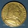 Coins 1ère restauration (1814-1815). 20 francs buste habillé 1814A. 900/1000. 6,45 g. Type avec 4 long