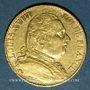 Coins 1ère restauration (1814-1815). 20 francs buste habillé 1814A. 900 /1000. 6,45 g. Type avec 4 moyen