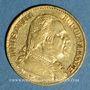 Coins 1ère restauration. 20 francs buste habillé 1814A. (PTL 900‰. 6,45 g). Type avec 4 long