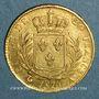 Coins 1ère restauration. 20 francs buste habillé 1814A. (PTL 900/1000. 6,45 g). Type avec 4 long