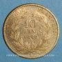 Coins 2e empire (1852-1870). 10 francs Napoléon III tête laurée 1862 A. (PTL 900 ‰. 3,22 g)