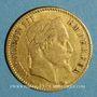 Coins 2e empire (1852-1870). 10 francs Napoléon III tête laurée 1864 BB. Strasbourg. (PTL 900‰. 3,22 g)