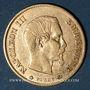 Coins 2e empire (1852-1870). 10 francs tête laurée 1860 BB. Strasbourg. 6 fermé. (PTL 900‰. 3,22 g)
