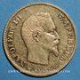Coins 2e empire (1852-1870). 10 francs tête nue 1858 A, grand module. (PTL 900‰. 3,22 g)