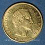 Coins 2e empire (1852-1870). 10 francs tête nue 1860 A, 6 fermé. (PTL 900‰. 3,22 g)