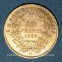 Coins 2e empire (1852-1870). 10 francs tête nue 1860 A, abeille. (PTL 900‰. 3,22 g)