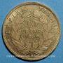 Coins 2e empire (1852-1870). 10 francs tête nue 1860 A, main et 6 ouvert. (PTL 900‰. 3,22 g)