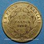Coins 2e empire (1852-1870). 10 francs tête nue 1860 BB. Strasbourg, grand module. (PTL 900‰. 3,22 g)