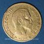 Coins 2e empire (1852-1870). 10 francs tête nue, grand module, 1859 BB Strasbourg. (PTL 900‰. 3,22 g)