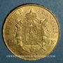 Coins 2e empire (1852-1870). 100 francs Napoléon III tête laurée 1864A. (PTL 900 /1000. 32,25 g)