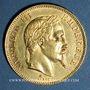 Coins 2e empire (1852-1870). 100 francs, Napoléon III, tête laurée 1866A. 900 /1000. 32,25 gr