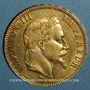 Coins 2e empire (1852-1870). 100 francs Napoléon III tête laurée 1868A. (PTL 900 /1000. 32,25 g)