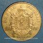 Coins 2e empire (1852-1870). 100 francs Napoléon III tête laurée 1869 A. (PTL 900‰. 32,25 g)