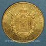 Coins 2e empire (1852-1870). 100 francs Napoléon III tête laurée 1869A. (PTL 900‰. 32,25 g)