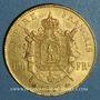 Coins 2e empire (1852-1870). 100 francs Napoléon III tête laurée 1869BB. (PTL 900‰. 32,25 g)