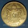 Coins 2e empire (1852-1870). 100 francs Napoléon III, tête nue 1855A. 900 /1000. 32,25 gr