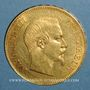 Coins 2e empire (1852-1870). 100 francs Napoléon III tête nue 1857A. (PTL 900/1000. 32,25 g)
