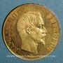 Coins 2e empire (1852-1870). 100 francs Napoléon III tête nue 1858 A. (PTL 900‰. 32,25 g)