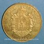 Coins 2e empire (1852-1870). 100 francs Napoléon III tête nue 1858A. (PTL 900/1000. 32,25 g)