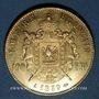 Coins 2e empire (1852-1870). 100 francs, Napoléon III, tête nue 1859A. 900 /1000. 32,25 gr