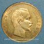 Coins 2e empire (1852-1870). 100 francs Napoléon III tête nue 1859A. (PTL 900 /1000. 32,25 gr)