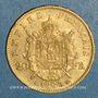 Coins 2e empire (1852-1870). 20 francs Napoléon III tête laurée 1862A. (PTL900 /1000. 6,45 gr)