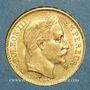 Coins 2e empire (1852-1870). 20 francs Napoléon III tête laurée 1869BB. Strasbourg. (PTL 900/1000. 6,45 g)