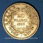 Coins 2e empire (1852-1870). 20 francs Napoléon III tête nue 1853 A. (PTL 900‰. 6,45 g)