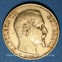 Coins 2e empire (1852-1870). 20 francs Napoléon III tête nue 1854 A. (PTL 900‰. 6,45 g)